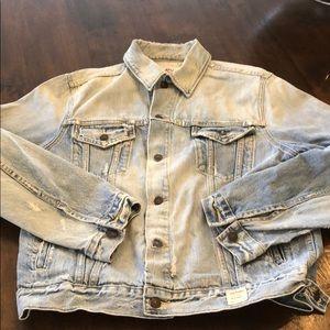 NWOT Abercrombie & Fitch Denim Jacket size XL